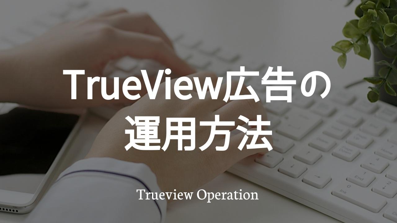 TrueView広告の運用方法